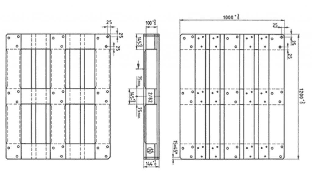 EUR3 100x120 Euro palet ölçüleri teknik cizimi 1024x574 - 100X120  EUR3 EURO PALET ÖLÇÜLERİ NEDİR?